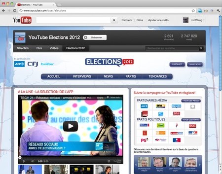 Youtube Elections 2012